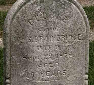BRAIMBRIDGE, GEORGE - Lorain County, Ohio | GEORGE BRAIMBRIDGE - Ohio Gravestone Photos