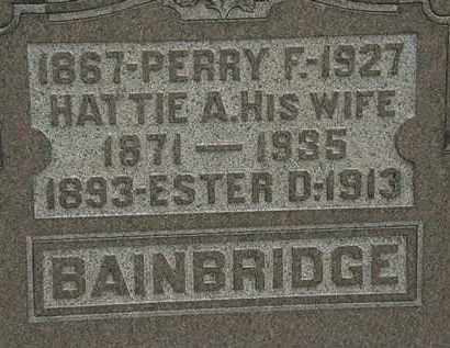 BAINBRIDGE, PERRY F. - Lorain County, Ohio | PERRY F. BAINBRIDGE - Ohio Gravestone Photos