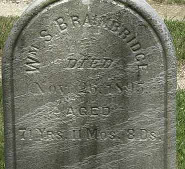 BRAIMBRIDGE, WM. S - Lorain County, Ohio | WM. S BRAIMBRIDGE - Ohio Gravestone Photos