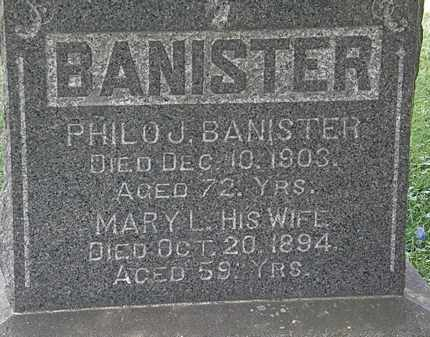 BANISTER, MARY L. - Lorain County, Ohio | MARY L. BANISTER - Ohio Gravestone Photos