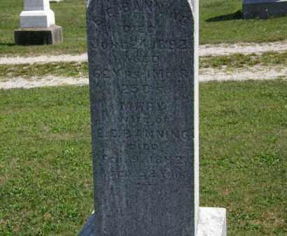 BANNING, E.E. - Lorain County, Ohio | E.E. BANNING - Ohio Gravestone Photos