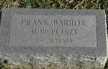BARBOR, FRANK - Lorain County, Ohio | FRANK BARBOR - Ohio Gravestone Photos