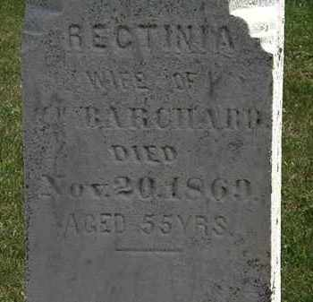 BARCHARD, RECTINIA - Lorain County, Ohio | RECTINIA BARCHARD - Ohio Gravestone Photos
