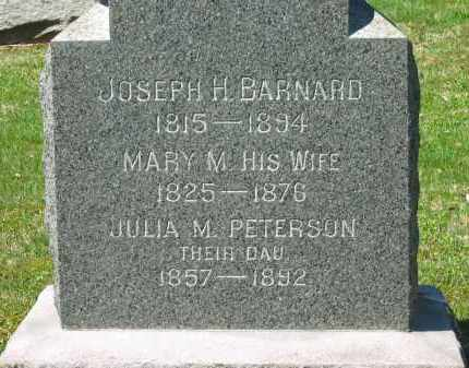 BARNARD PETERSON, JULIA M. - Lorain County, Ohio | JULIA M. BARNARD PETERSON - Ohio Gravestone Photos