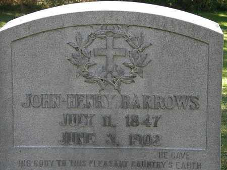 BARROWS, JOHN HENRY - Lorain County, Ohio | JOHN HENRY BARROWS - Ohio Gravestone Photos