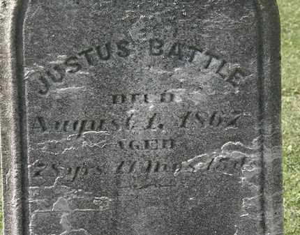 BATTLE, JUSTUS - Lorain County, Ohio | JUSTUS BATTLE - Ohio Gravestone Photos