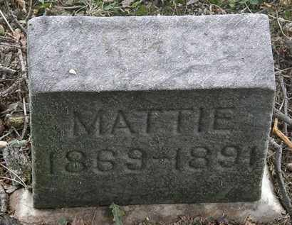 BATTLE, MATTIE - Lorain County, Ohio | MATTIE BATTLE - Ohio Gravestone Photos