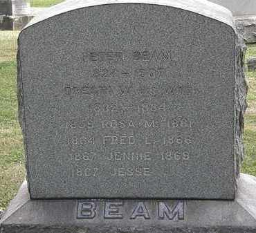 BEAM, JENNIE - Lorain County, Ohio | JENNIE BEAM - Ohio Gravestone Photos