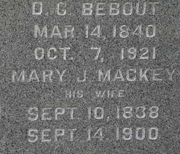 BEBOUT, MARY J. - Lorain County, Ohio | MARY J. BEBOUT - Ohio Gravestone Photos