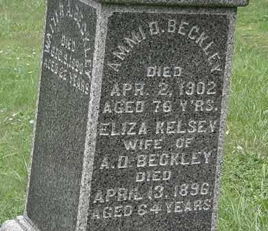 KELSEY BECKLEY, ELIZA - Lorain County, Ohio | ELIZA KELSEY BECKLEY - Ohio Gravestone Photos