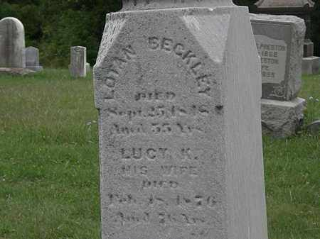 BECKLEY, LOTAN - Lorain County, Ohio | LOTAN BECKLEY - Ohio Gravestone Photos
