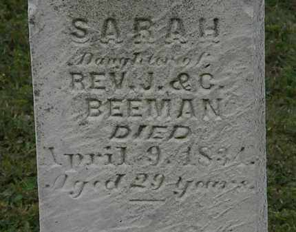 BEEMAN, SARAH - Lorain County, Ohio | SARAH BEEMAN - Ohio Gravestone Photos