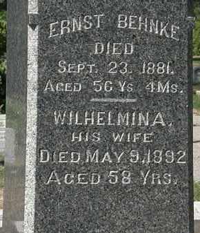 BEHNKE, WILHELMINA - Lorain County, Ohio | WILHELMINA BEHNKE - Ohio Gravestone Photos