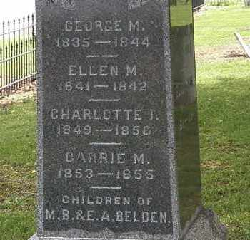 BELDEN, CHARLOTTE - Lorain County, Ohio | CHARLOTTE BELDEN - Ohio Gravestone Photos