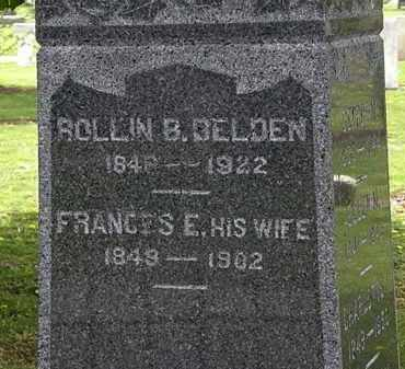 BELDEN, FRANCES E. - Lorain County, Ohio | FRANCES E. BELDEN - Ohio Gravestone Photos