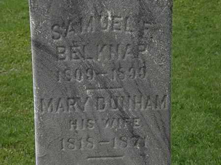 DUNHAM BELKNAP, MARY - Lorain County, Ohio | MARY DUNHAM BELKNAP - Ohio Gravestone Photos