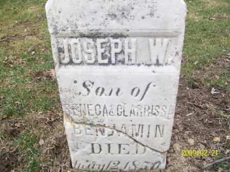 BENJAMIN, JOSEPH W - Lorain County, Ohio | JOSEPH W BENJAMIN - Ohio Gravestone Photos
