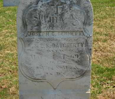 DAUGHERTY BENNETT, SOPHIA A. - Lorain County, Ohio | SOPHIA A. DAUGHERTY BENNETT - Ohio Gravestone Photos