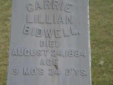 BIDWELL, CARRIE LILLIAN - Lorain County, Ohio | CARRIE LILLIAN BIDWELL - Ohio Gravestone Photos