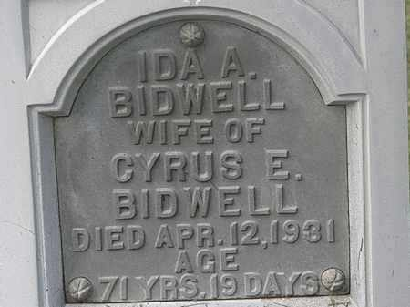 BIDWELL, IDA A. - Lorain County, Ohio | IDA A. BIDWELL - Ohio Gravestone Photos