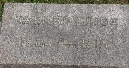 BILLINGS, W.M. - Lorain County, Ohio   W.M. BILLINGS - Ohio Gravestone Photos