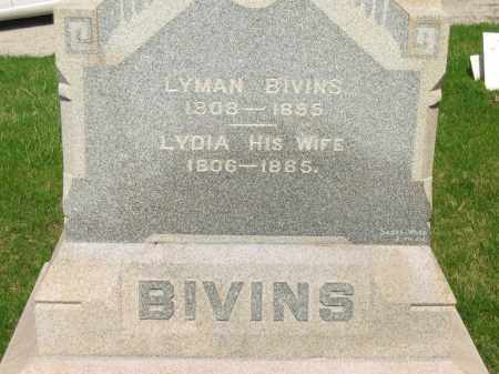 BIVINS, LYMAN - Lorain County, Ohio | LYMAN BIVINS - Ohio Gravestone Photos