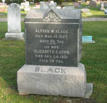 APPS BLACK, ELIZABETH F. - Lorain County, Ohio | ELIZABETH F. APPS BLACK - Ohio Gravestone Photos
