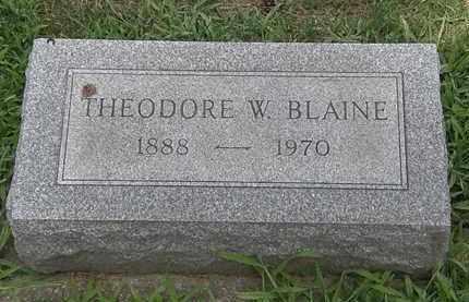BLAINE, THEODORE - Lorain County, Ohio | THEODORE BLAINE - Ohio Gravestone Photos