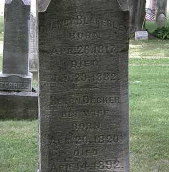 DECKER BLAKESLEY, HELEN - Lorain County, Ohio | HELEN DECKER BLAKESLEY - Ohio Gravestone Photos