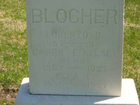 KELSEY BLOCHER, CARRIE E. - Lorain County, Ohio | CARRIE E. KELSEY BLOCHER - Ohio Gravestone Photos