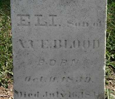 BLOOD, E. - Lorain County, Ohio | E. BLOOD - Ohio Gravestone Photos