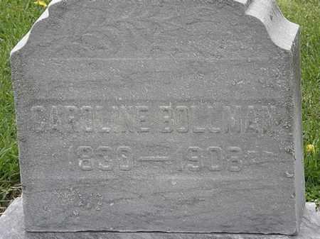 BOLLMAN, CAROLINE - Lorain County, Ohio | CAROLINE BOLLMAN - Ohio Gravestone Photos