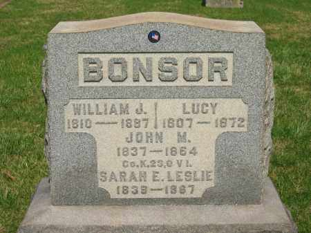 BONSOR, WILLIAM J. - Lorain County, Ohio | WILLIAM J. BONSOR - Ohio Gravestone Photos