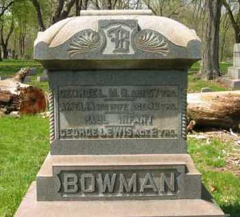 BOWMAN, GEORGE LEWIS - Lorain County, Ohio | GEORGE LEWIS BOWMAN - Ohio Gravestone Photos