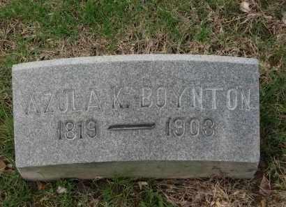 BOYNTON, AZULA K. - Lorain County, Ohio | AZULA K. BOYNTON - Ohio Gravestone Photos