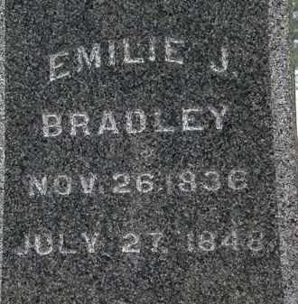 BRADLEY, EMILIE J. - Lorain County, Ohio | EMILIE J. BRADLEY - Ohio Gravestone Photos