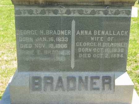 BRADNER, GEORGE H. - Lorain County, Ohio | GEORGE H. BRADNER - Ohio Gravestone Photos