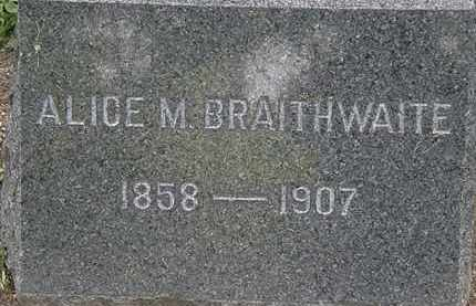 BRAITHWAITE, ALICE M. - Lorain County, Ohio | ALICE M. BRAITHWAITE - Ohio Gravestone Photos