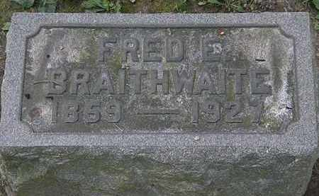 BRAITHWAITE, FRED E. - Lorain County, Ohio | FRED E. BRAITHWAITE - Ohio Gravestone Photos