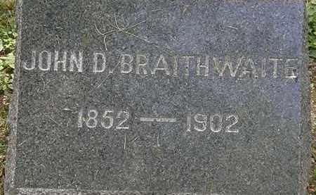 BRAITHWAITE, JOHN D. - Lorain County, Ohio | JOHN D. BRAITHWAITE - Ohio Gravestone Photos