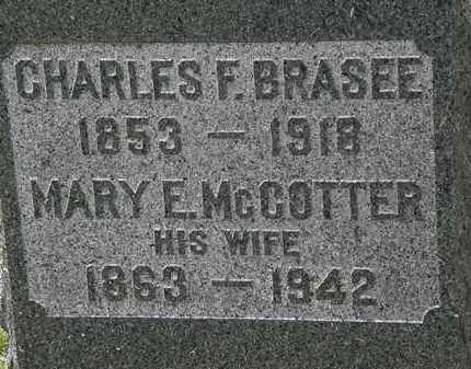 MCCOTTER BRASEE, MARY F. - Lorain County, Ohio | MARY F. MCCOTTER BRASEE - Ohio Gravestone Photos
