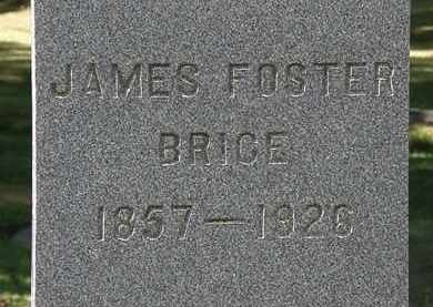 BRICE, JAMES FOSTER - Lorain County, Ohio | JAMES FOSTER BRICE - Ohio Gravestone Photos