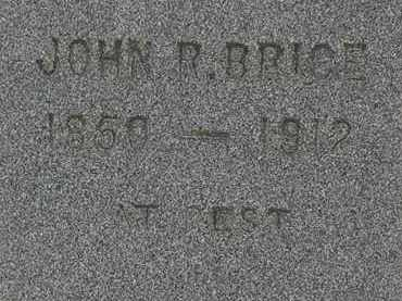 BRICE, JOHN R. - Lorain County, Ohio | JOHN R. BRICE - Ohio Gravestone Photos