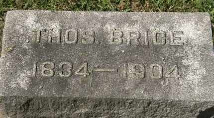 BRICE, THOS. - Lorain County, Ohio | THOS. BRICE - Ohio Gravestone Photos