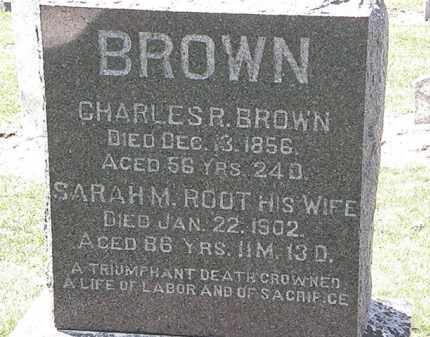 BROWN, CHARLES R. - Lorain County, Ohio | CHARLES R. BROWN - Ohio Gravestone Photos