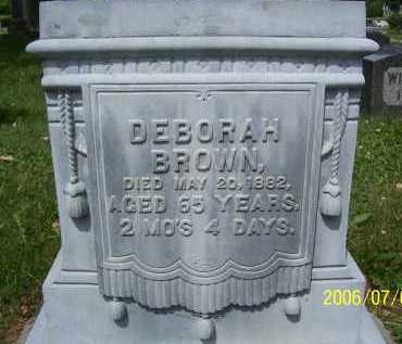 BROWN, DEBORAH - Lorain County, Ohio | DEBORAH BROWN - Ohio Gravestone Photos