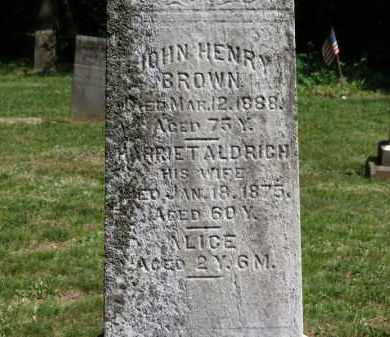 BROWN, JOHN HENRY - Lorain County, Ohio | JOHN HENRY BROWN - Ohio Gravestone Photos