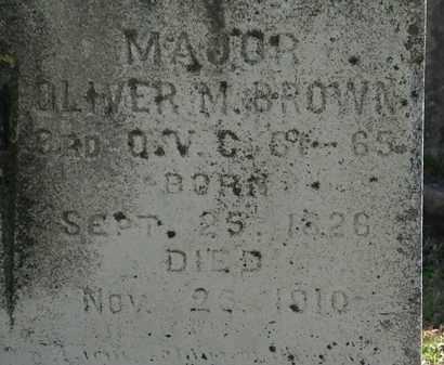 BROWN, MAJ. OLIVER M - Lorain County, Ohio   MAJ. OLIVER M BROWN - Ohio Gravestone Photos