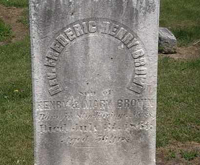 BROWN, HENRY - Lorain County, Ohio | HENRY BROWN - Ohio Gravestone Photos