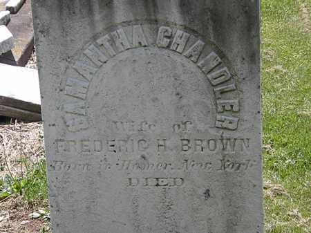 CHANDLER BROWN, SAMANTHA - Lorain County, Ohio | SAMANTHA CHANDLER BROWN - Ohio Gravestone Photos